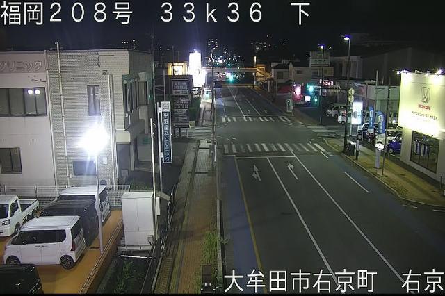 福岡 国道208号[大牟田市右京町]ライブカメラ