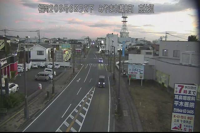 福岡 国道209号[みやま市瀬高町 恵比須]ライブカメラ