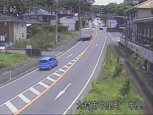 長崎 国道34号[大村市中里町 中里]ライブカメラ