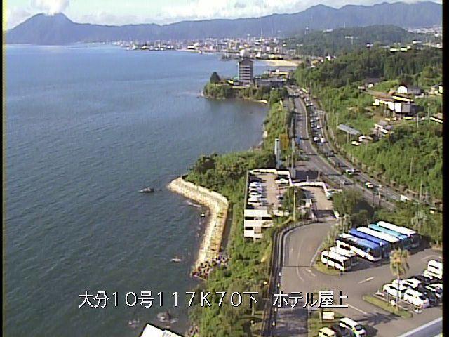 国道10号線 別府湾ロイヤルホテル屋上(速速見郡日出町平道)ライブカメラ