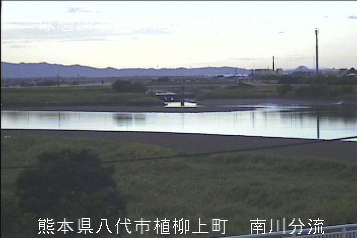 球磨川[八代市植柳上町 南川分流]氾濫洪水 ライブカメラ
